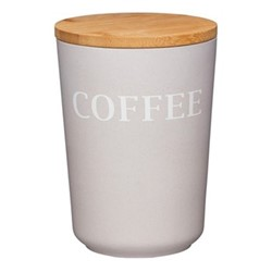 Natural Elements Coffee canister, 14 x 10.5cm, bamboo