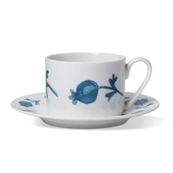 Rose Hip Coffee cup and saucer, H6 x D8.5cm cup - 16cm saucer