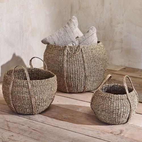 Rundi Seagrass basket, Dia32cm, Natural