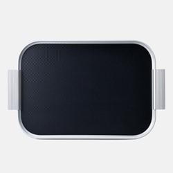 Ribbed serving tray, L46 x W30cm, diamond black