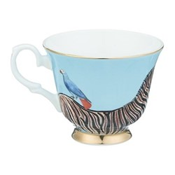 Zebra Set of 6 teacups, H8 x D14cm
