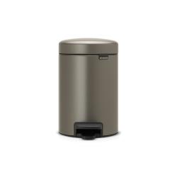 newIcon Pedal bin, 3 litre, Platinum