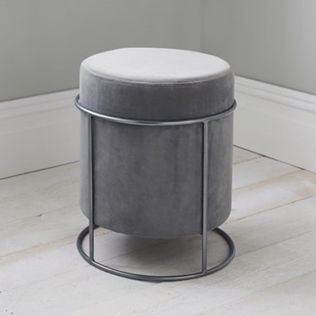 Stack stool, L37 x W37 x D45cm, light grey