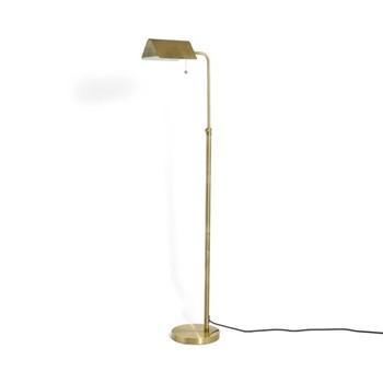 Halstead Bankers Floor lamp, brass