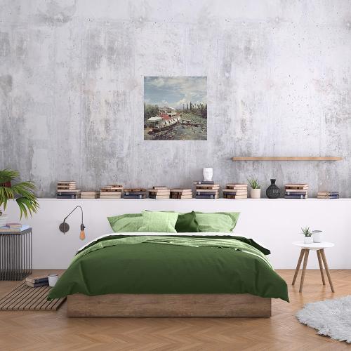 Slim Aarons - Jhelum River Mounted print, H51 x W51cm, Perspex