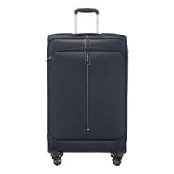 Popsoda Spinner expandable suitcase, 78 x 48 x 31/34cm, dark blue