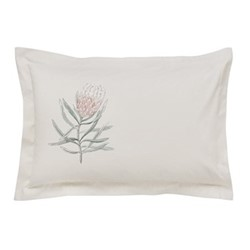 Protea Flower Oxford pillowcase, L48 x W74cm, sea pink