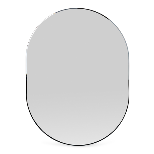 Orta Oval mirror, D100cm, Walnut