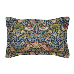 Strawberry Thief Oxford pillowcase, L48 x W74cm, indigo