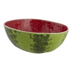 Watermelon Salad bowl, 28 x 27 x 13cm, red/green