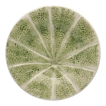 Melon Set of 4 plates, 20cm, green/orange