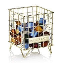 Pod Cage coffee capsule storage, electric gold