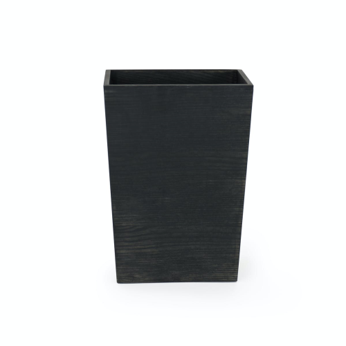 380 Mezza Rectangular bin, H38 x W27 x D20cm, Dark Oak