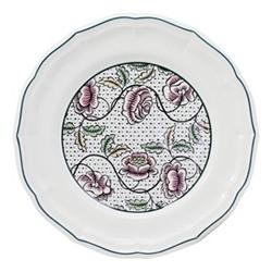 Dominoté - Roses Set of 4 dinner plates, 26cm