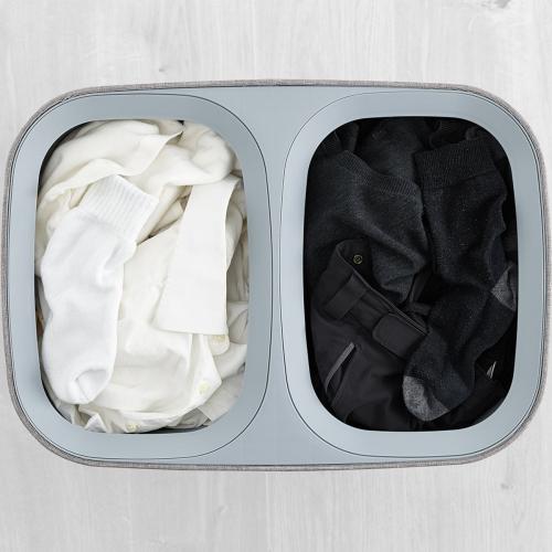 Tota Easy-Empty Laundry Basket 90 Litre Grey