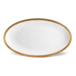 Corde Large oval platter, 53 x 30cm, gold