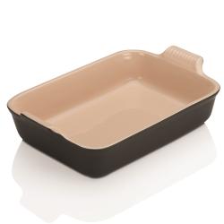 Stoneware Rectangular dish, 32 x 28cm - 3.85 litre, Satin Black
