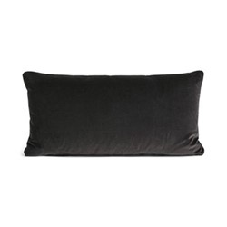Monroe Oblong cushion, velvet/charcoal