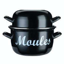 Mediterranean Mussel pot, 24cm, Enamelled Steel