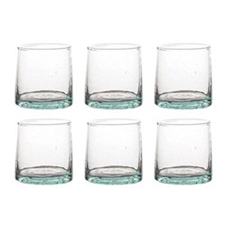 Morrocan Set of 6 small glasses, D6.3 x H6.3cm, green