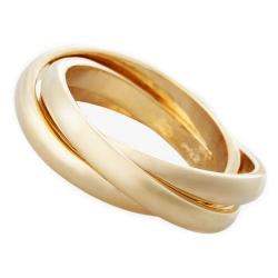 3 Rings Set of 4 napkin rings, Gold