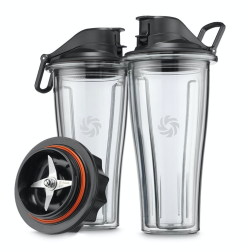 Ascent Series Blending cup starter kit, 600ml x 2