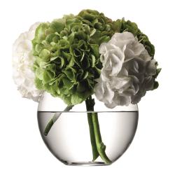 Flower Round bouquet vase, 22cm, clear