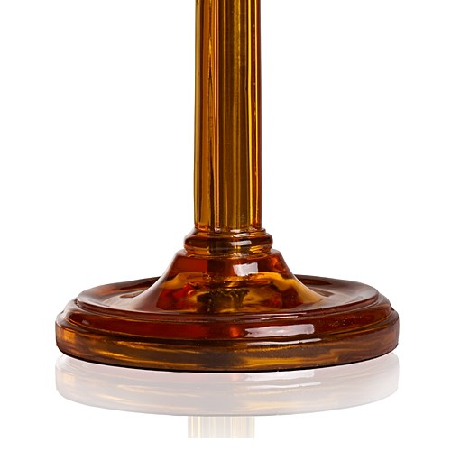 Luty Table lamp - base only, H63 x W16cm, amber polished resin