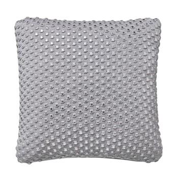 Coi Cushion, L40 x W40 x H10cm, platinum