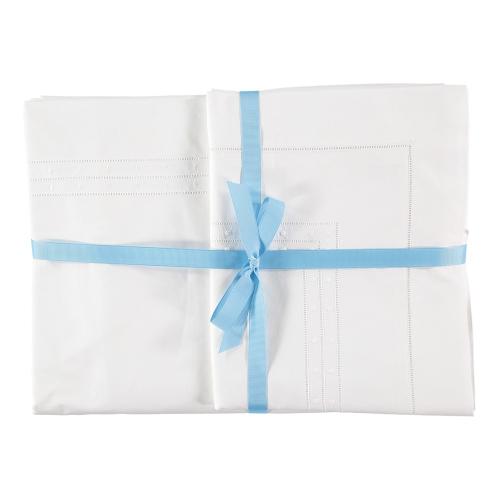 Matilda King size duvet cover, 230 x 220cm, White 200 Thread Count Cotton