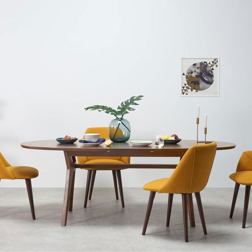 Jenson 6-8 seat extending dining table, H75 x W170 x D90cm, Dark Stain Oak