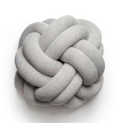 Knot Cushion, H30 x W30 x D15cm, white grey