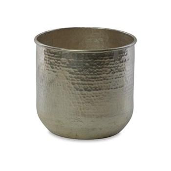 Rhuna Large round planter, D23.5 x 25cm, silver