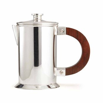 Audley Small coffee press, silver plated