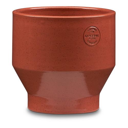 Edge Indoor pot, Dia18 x H18cm, Teracotta/Burnedred