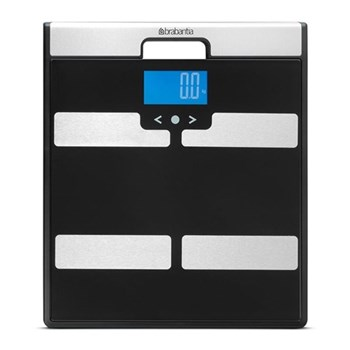 Body Analysis Multi functioning bathroom scales, H2.5 x W31 x D35cm, black