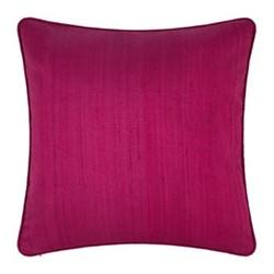 Silk cushion, 45 x 45cm, magenta