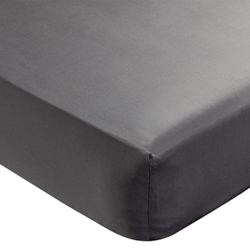Paramount Double fitted sheet, L190 x W135 x H34cm, graphite