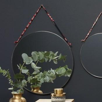 Kiko Round mirror, D0.5 x 38cm, antique zinc