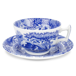 Blue Italian Set of 4 teacups and saucers, 200ml