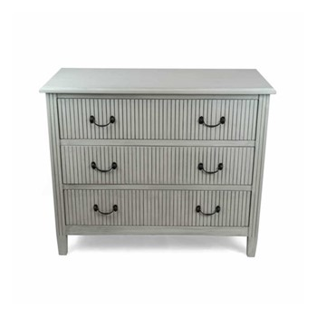 Hampton Chest of drawers, W91 x D40 x H76cm, soft grey