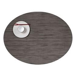 Mini Basketweave Set of 4 oval placemats, 36 x 49cm, light grey