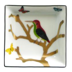 Aux Oiseaux Square ashtray, 8cm