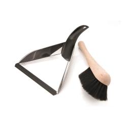Dustpan & brush, 35 x 24cm, Stainless Steel
