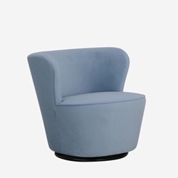 Dorothy Swivel chair, W76 x H71.5 x D74cm, powder houdini velvet