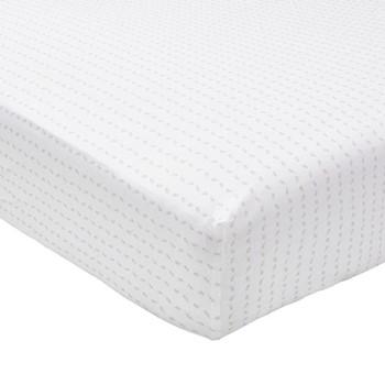 Leaf Super king size fitted sheet, L200 x W180 x H34cm, linen