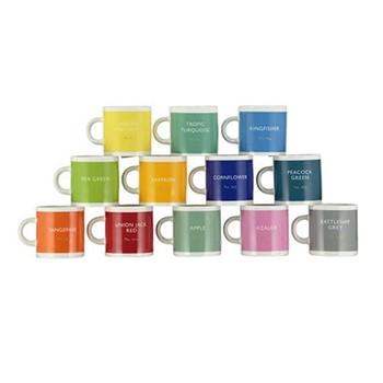 Set of 12 espresso mugs, H6 x D6cm - 110ml, multi