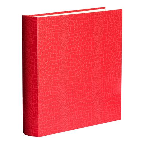 Oyster Bay Square 70 page album, L36 x W36cm, Red Croc Print
