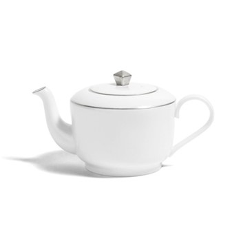 Line - Colour Small teapot, H8.5cm - 300ml, metallic platinum