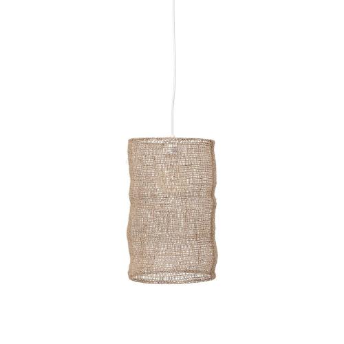 Laurids Pendant lamp, H45 x D27cm, Beige/ Natural
